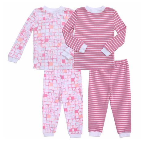 Pink Block Pattern Pajamas