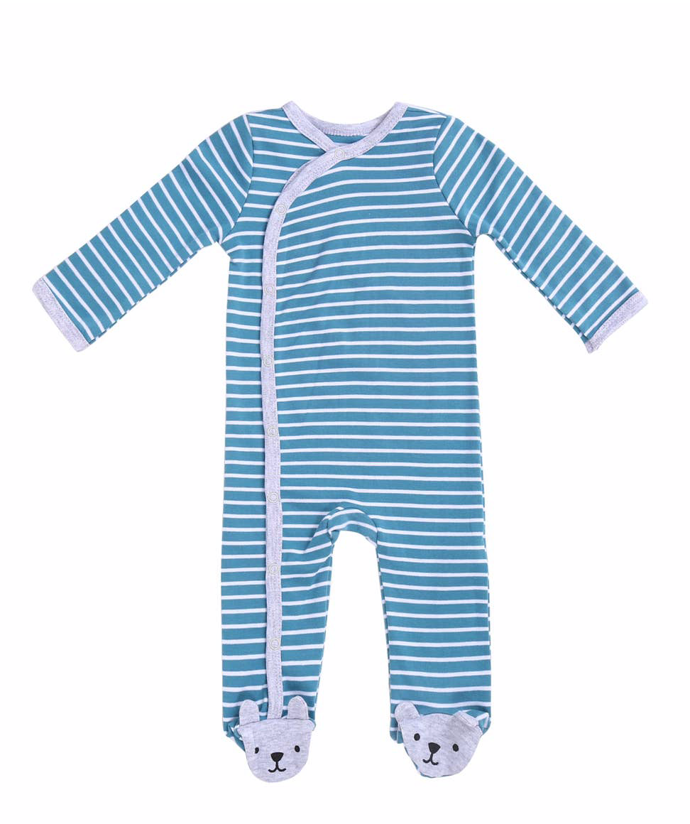 Blue Striped Footie