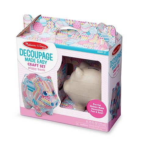 Decoupage - Piggy Bank