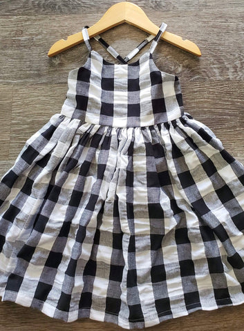 Black & White Checkered Tank Dress