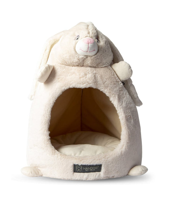 LIGHT GRAY BUNNY SHAPE CAT HUT