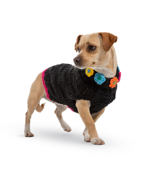 FurryTrendz Floral Basketweave Hand Knit Sweaters