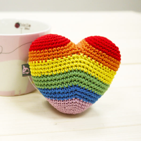 PAWer Squeaky Toy - Rainbow Heart