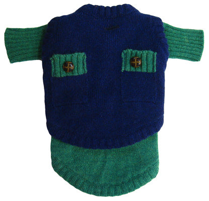 Two Face Wooly Sweater - Green