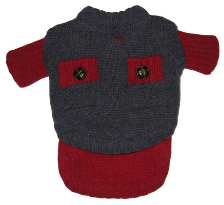 Two Face Wooly Sweater - Red