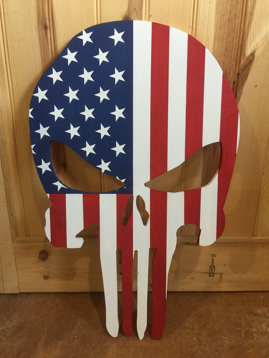 American Flag Skull - Downing Wood Works