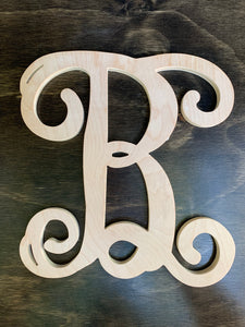 "12"" Vine Letter - Downing Wood Works"