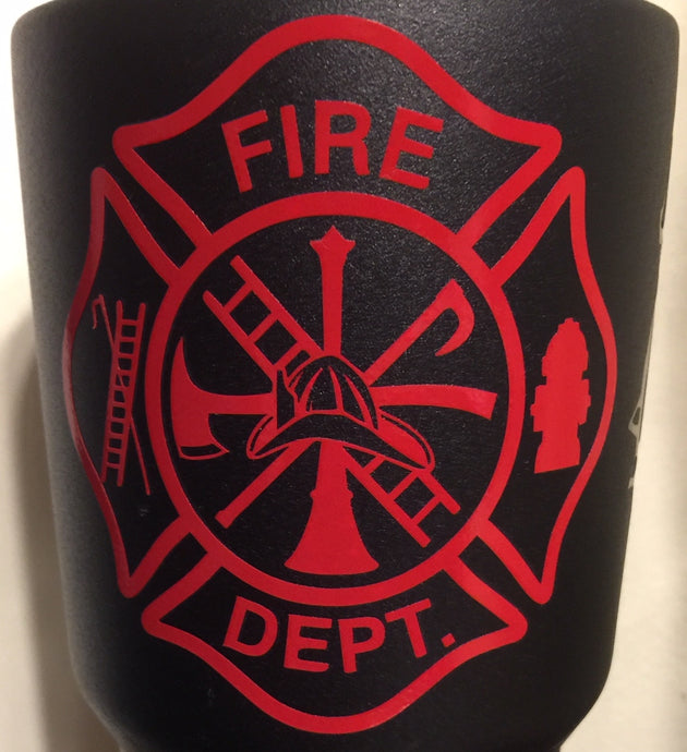 Fire Department Maltese Cross Sticker - Downing Wood Works
