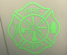 Load image into Gallery viewer, Fire Department Maltese Cross Sticker - Downing Wood Works