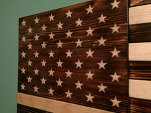 Load image into Gallery viewer, Charred American Flag - Downing Wood Works