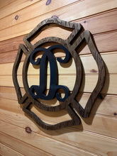 Load image into Gallery viewer, Maltese Cross with Vine Letter - Downing Wood Works