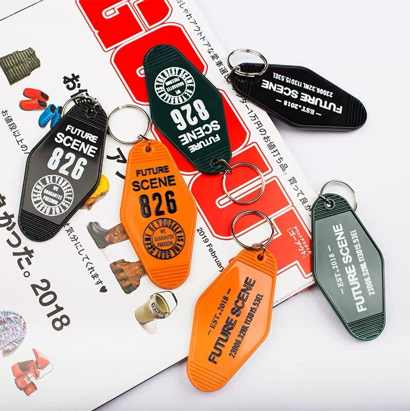 Room number Hotel Tag Key Chain Plastic Portable Wholesale Home Key Holder Gift For Movie Fans Car Bag Accessories