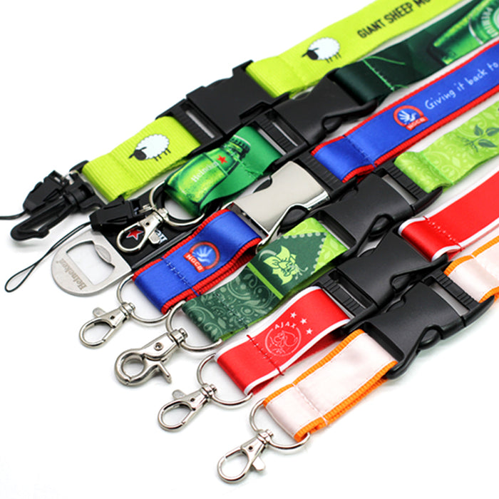 2020 Hot Promotional Polyester Lanyard Waterproof Custom Texts/Logos Tradeshow Lanyards