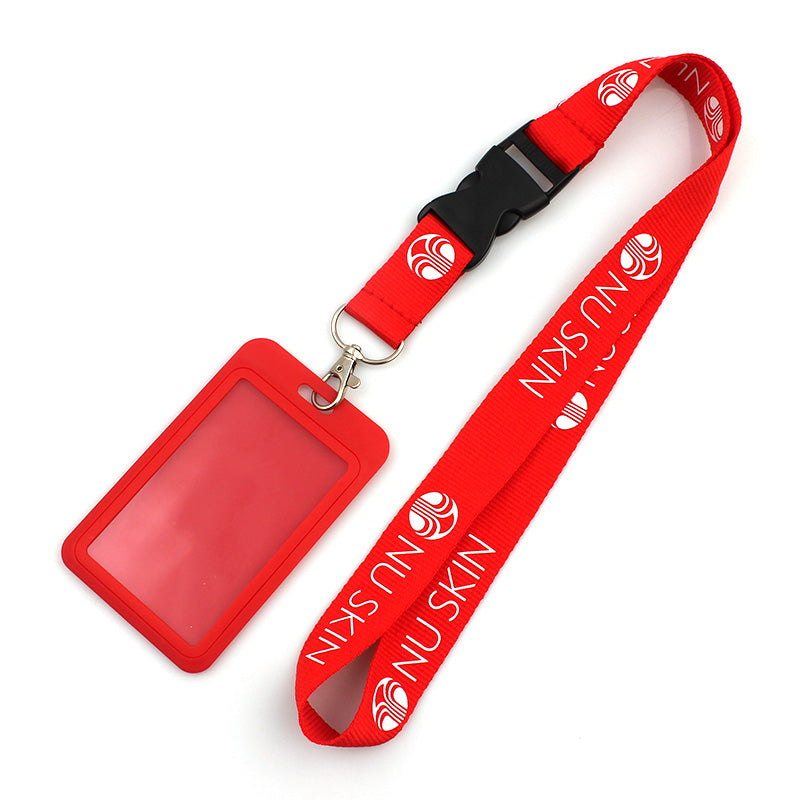High quality neck custom polyester woven lanyards