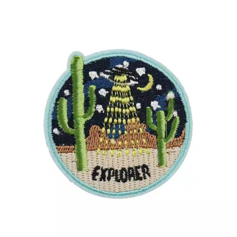 Embroidered Patch, 100% Thread Coverage for clothes hats