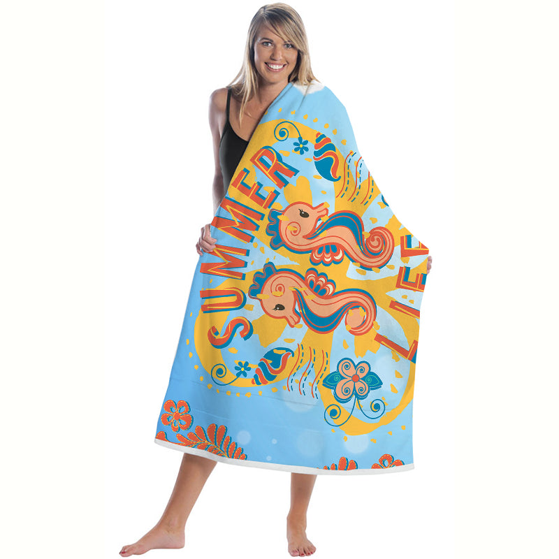 100% polyester Beach Towels with the full print