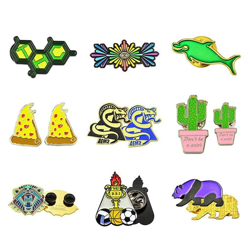 Wholesale Personalized Soft Enamel Lapel Pin Badges China Factory