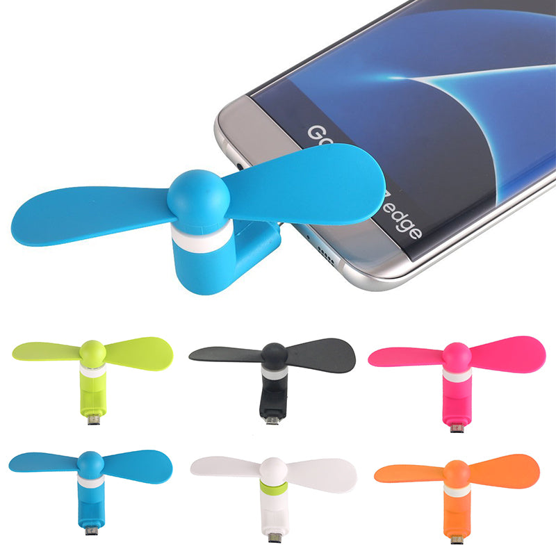 Portable Micro/Mini USB Cooling Fan Mute Cooler For Mobile Android Cell Phone