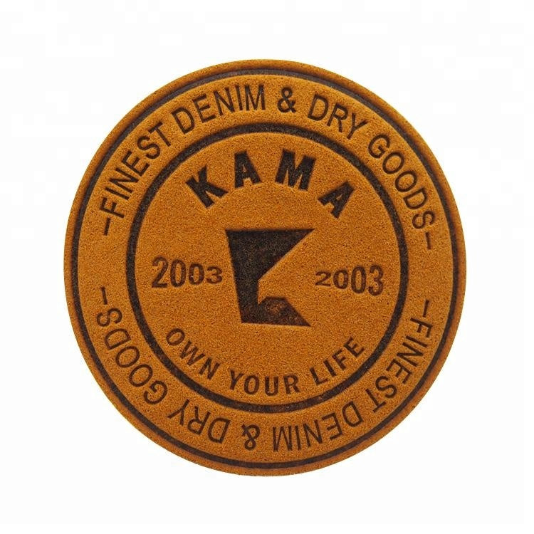 Custom Logo Leatherette Patches, Laser Engraved Leather Patch
