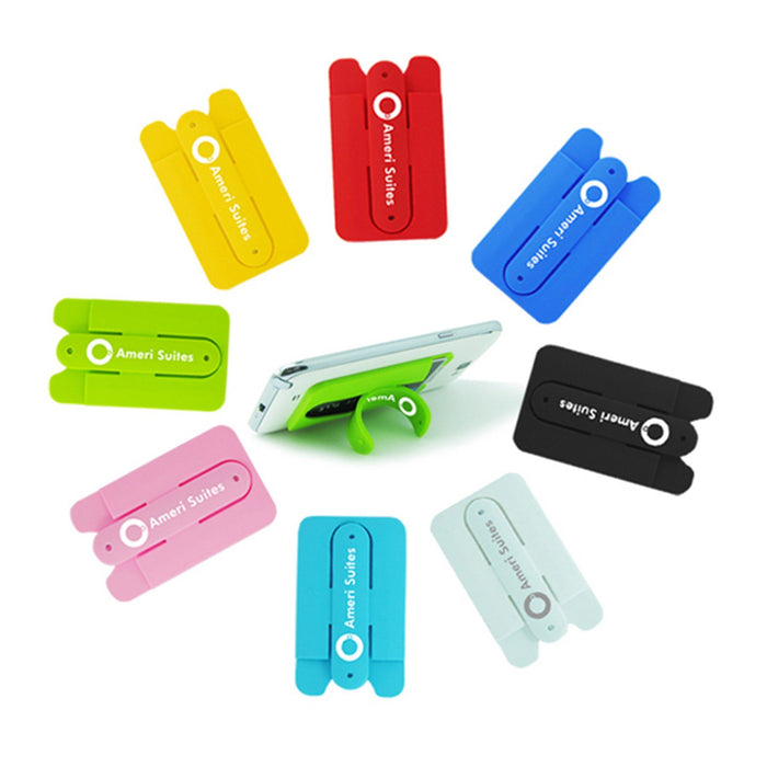 Bulk Phone Wallet with kickstand Custom Silicone Phone Card Holder with Stand