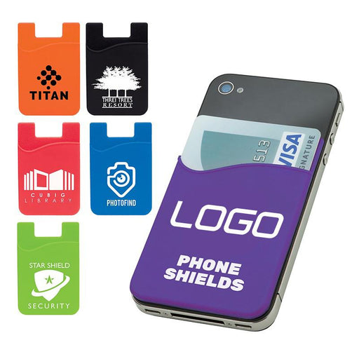 custom logo Silicone Phone Wallet