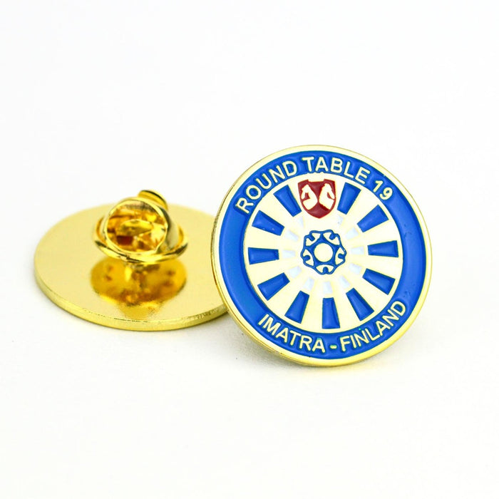 Custom Design Gold Plated Enamel Badge Lapel Pins