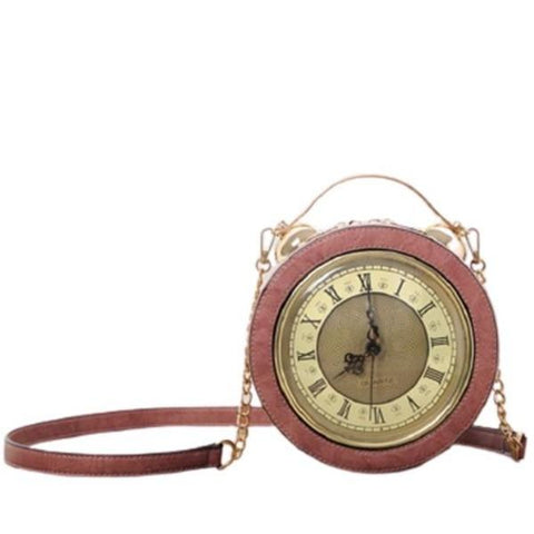 SAC A MAIN ROSE MONTRE VINTAGE RETRO REEL MOUVEMENT