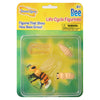 Package of 4 bee life cycle figurines, egg, larva, pupa and bee.