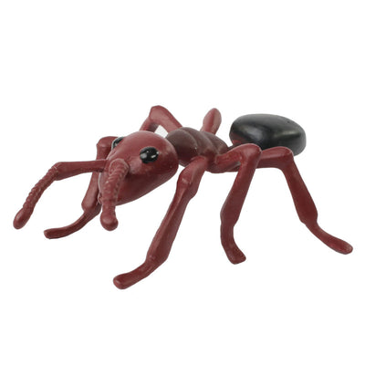 Front of the brown adult ant stage of the ant life cycle figurines set.