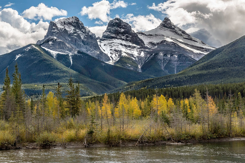 """Three Sisters"" Canmore AB Canvas"