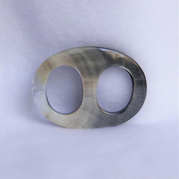 "Black-Mother-of-Pearl-Oval-Medium-2.25""-Scarf-Ring"