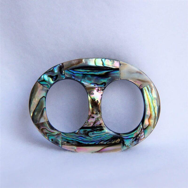"Paua-Shell-Oval-Medium-2.25""-Scarf-Ring"