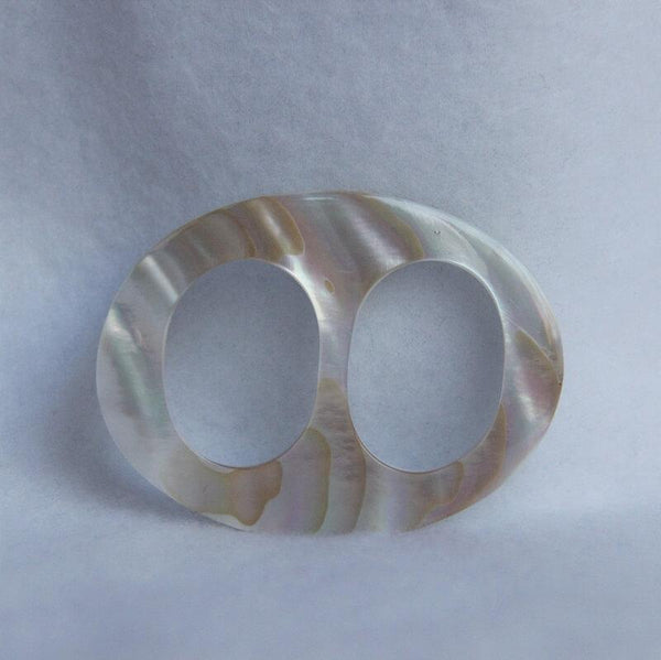 "White-Mother-of-Pearl-Oval-Medium-2.25""-Scarf-Ring"