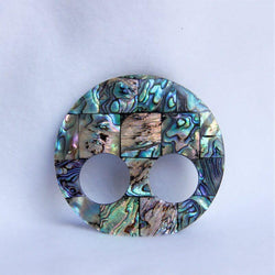 "Paua-Shell-Large-Round-Pendant-3""-Scarf-Ring"