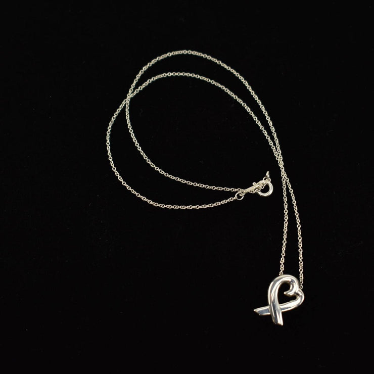"TIFFANY & CO ""Paloma Picasso"": Sterling Silver ""Loving Heart"" Necklace (wo)"