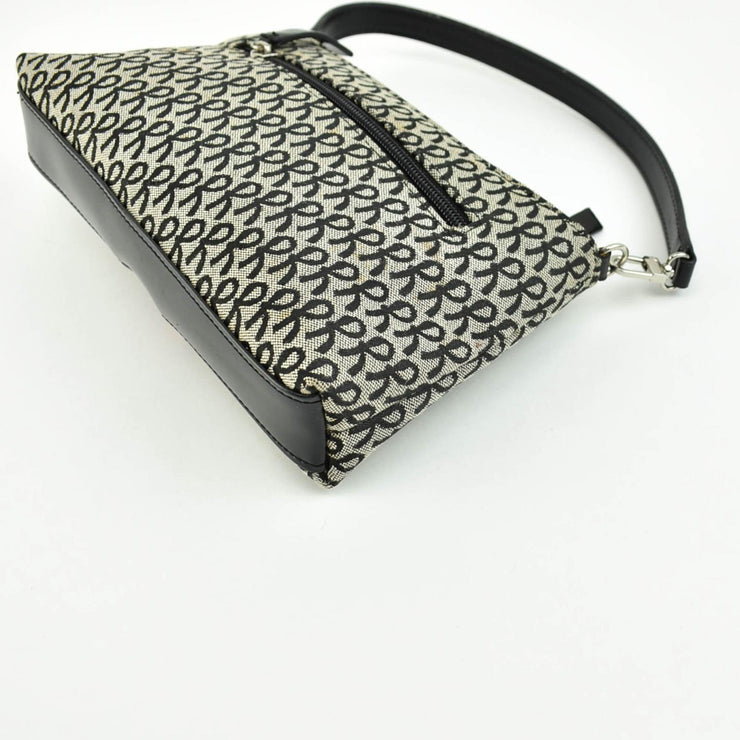 "ROBERTA DI CAMERINO: Gray/Black, ""R"" Logo Shoulder Bag (mo)"