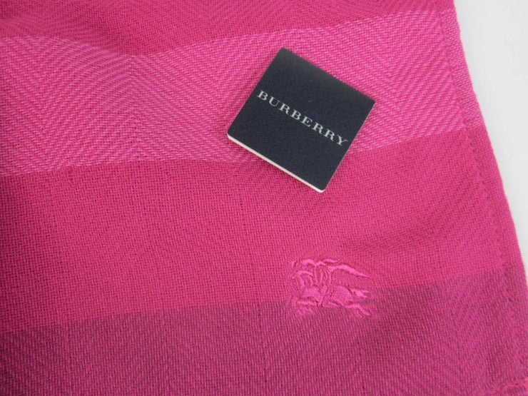 BURBERRY: Pink & Logo Facial Travel Cloth/Towel
