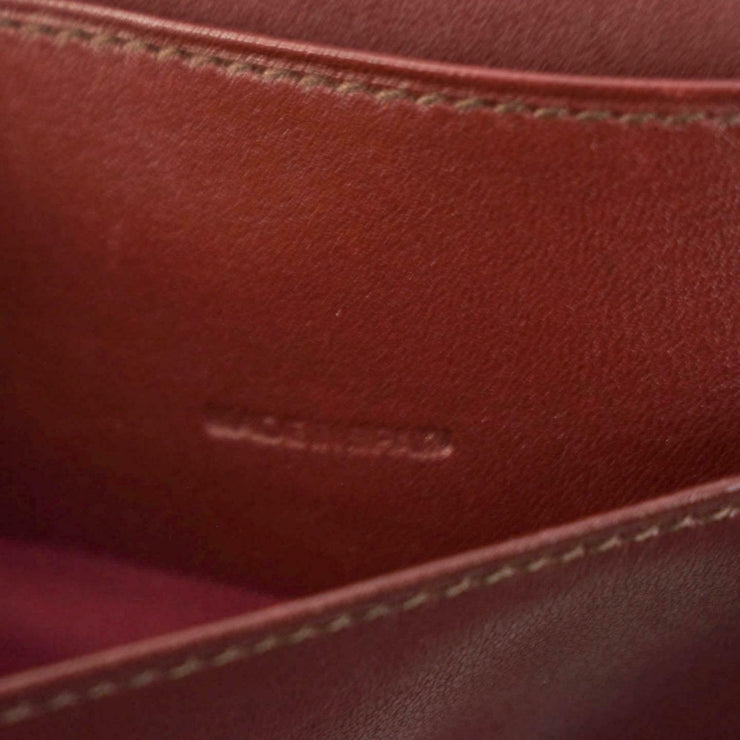 "CARTIER: Burgundy, Leather & ""Double C"" Logo Long Wallet/Organizer/Clutch (nn)"