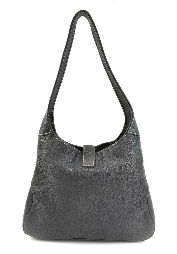 SALVATORE FERRAGAMO: Dark Brown, Leather & Logo Medium Shoulder/Hobo Bag (mq)