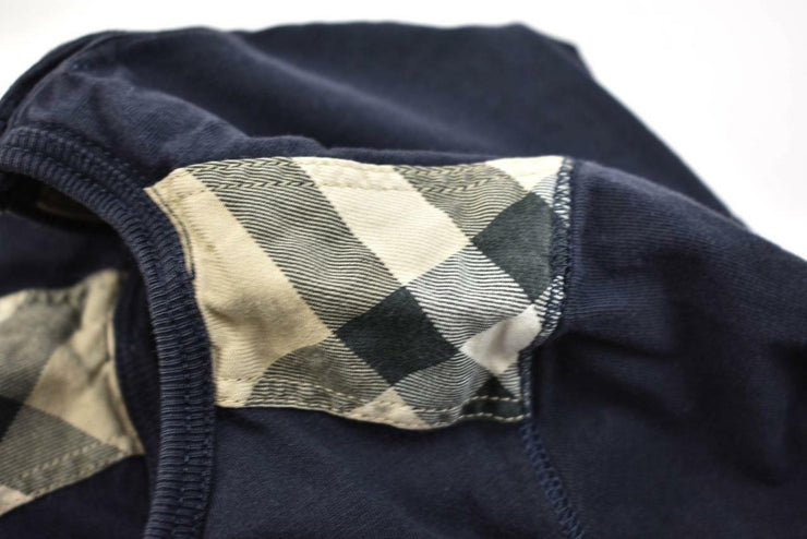 "BURBERRY: Toddlers - Dark Blue & ""Nova Check"" Long Sleeve Shirt Sz: 2Y/92cm"