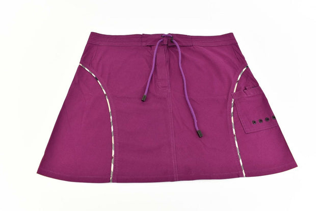 "BURBERRY London: Plum & ""Nova Check"" Tennis/Athletic Mini Skirt Sz: S"
