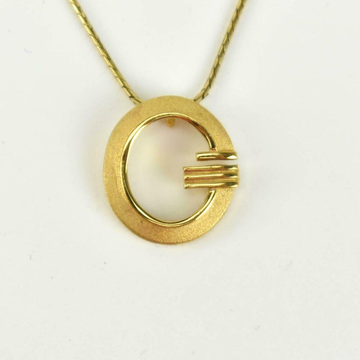 "GIVENCHY: Gold, Metal ""G"" Logo Necklace (ns)"