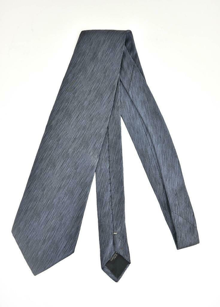JEAN PAUL GAULTIER: Blue & Logo 100% Silk, Club Tie (mo)