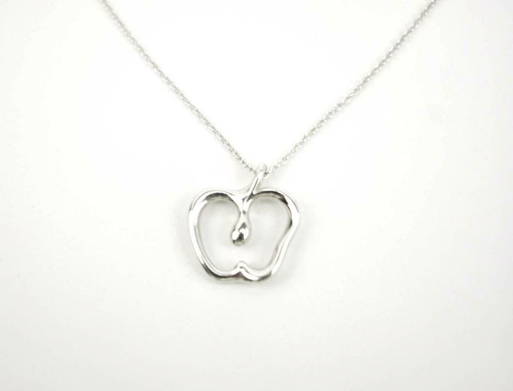 "TIFFANY & CO ""Elsa Peretti"" Sterling Silver ""Apple"" Medium Pendant/Necklace (qz)"