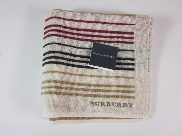 "BURBERRY: Beige & ""Burberry"" Logo, Facial Travel Cloth"