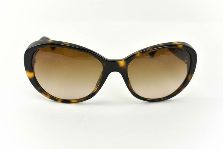 "CHANEL: Tortoise Brown, Signature Tweed & ""CC"" Logo Sunglasses (ct)"