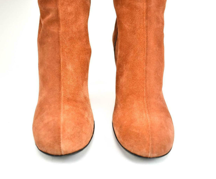 GUCCI: Burnt Sienna, Leather Tall Boots Sz: 6M