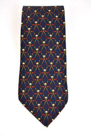 "GUCCI ""Golf Clubs"": Navy Blue, 100% Silk Club Tie (r)"