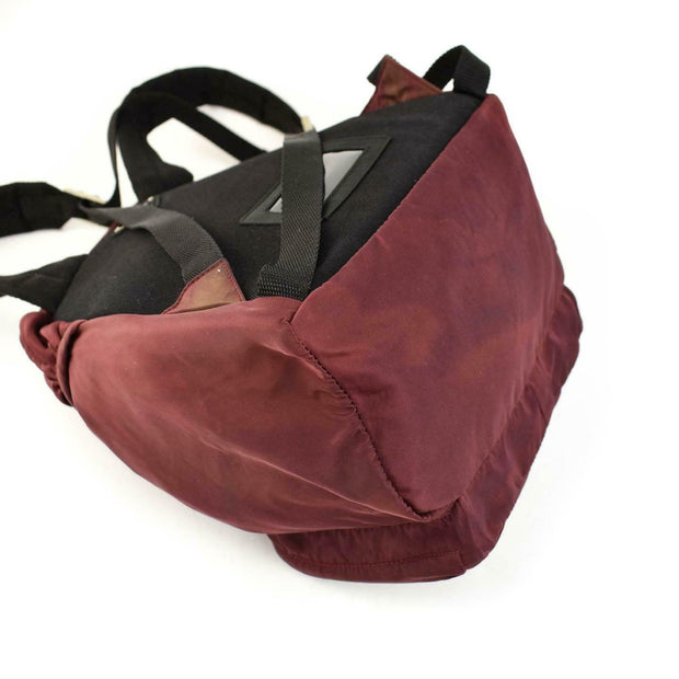 PRADA: Burgundy, Vela Nylon, & Logo Backpack/Bag (ru)