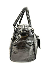TOD'S: Black, Patent Leather & Logo Medium Shoulder/Tote Bag (mn)